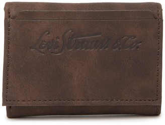 Levi's Elgin Leather RFID Trifold Wallet