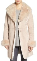 Tahari Women's Faux Shearling & Faux Fur Coat