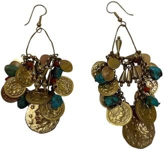 Erickson Beamon Gold Metal Earrings