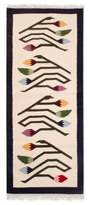 Handcrafted Floral Wool Area Rug (2x5.5), 'Spring Buds'