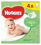 Huggies Baby Wipes Natural Care Quads 56