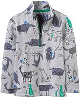 Joules Little Joule Boys' Dale All-Over Wolf Sweatshirt, Grey