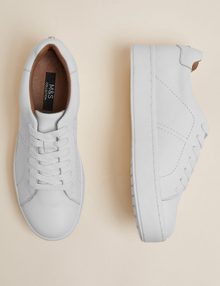 Marks and Spencer Leather Lace Up Trainers