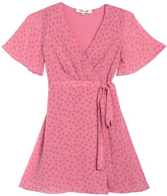 Diane von Furstenberg Kathy Rose Dot Wrap Dress