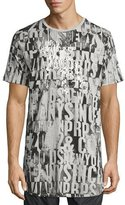 PRPS Allover Logo Print T-Shirt, Gray