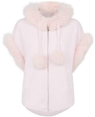 Max & Moi Fox Fur Blanco Sweater