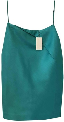 Cos Turquoise Cotton Skirt for Women