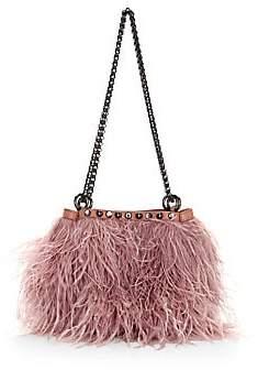 Rebecca Minkoff Women's Ruby Ostrich Feather Shoulder Bag
