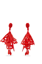 Oscar de la Renta Large Impatiens clip-on earrings
