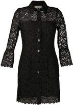 Sandro Paris lace A-line shirt dress