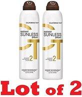 California Tan 2 BOTTLES OF Instant Sunless Spray - Dark Bronzing Spray