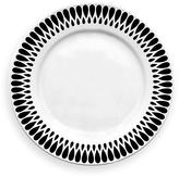 notNeutral Black & White Ribbon Dinner Plate - Set of Four
