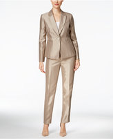 Le Suit Metallic One-Button Pantsuit