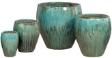 The Well Appointed House Rounded Ceramic Garden Planter in Teal-Available in Four Different Sizes-TWO LARGER POTS ON BACKORDER UNTIL AUGUST 2016