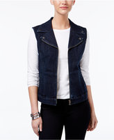 Style&Co. Style & Co Zippered Denim Vest, Only at Macy's