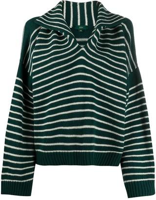 Jejia Striped Sailor-Collar Sweater