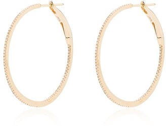 Rosa de la Cruz 18kt Yellow Gold Diamond-Embellished Hoop Earrings