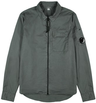 C.P. Company Dark Grey Cotton Overshirt