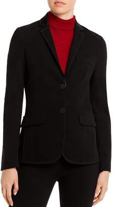 Piazza Sempione Two-Button Notch-Lapel Jersey Blazer