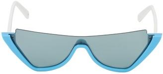 Courreges Mask Mask Acetate Cat Eye Sunglasses