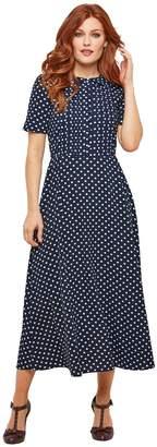 Joe Browns Mid-Length Polka Dot Dress with Short Sleeves