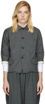 Comme des Garcons Grey Wool Twill Jacket