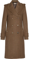 Michael Kors Double-breasted houndstooth wool coat