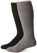 Muk Luks Men's Micro Chenille Knee High 2 Pair Sock Pack