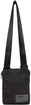 Diesel Black F-Discover Print Crossbody Bag