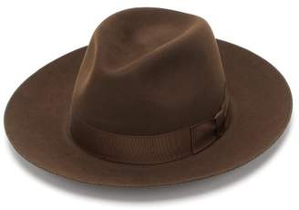 Lock & Co Hatters Oscar Felt Fedora - Mens - Brown