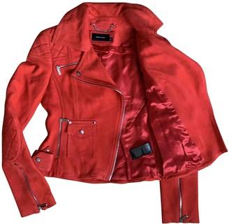 Karen Millen Red Suede Leather Jacket for Women