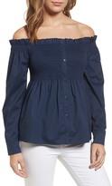Halogen Off-the-Shoulder Shirt (Petite)