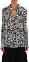 Derek Lam Women's Tieneck Blouse-BLACK, WHITE, NO COLOR
