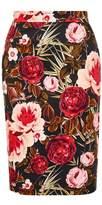 Hallhuber Rose print pencil skirt