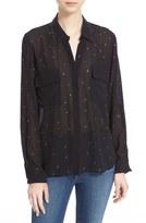 L'Agence Eyelet Detail Shirt