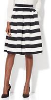 New York & Co. Pleated Full Skirt - Stripe