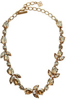 Oscar de la Renta Bold Crystal Teardrop Necklace, Golden
