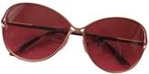 Burberry Gold Metal Sunglasses