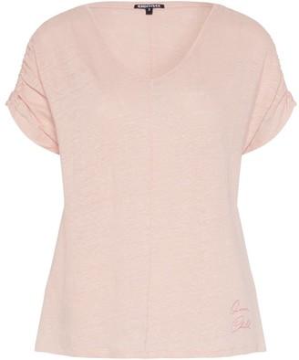 Chiemsee Women's T-Shirt uberschnittene Schultern aus 100% Leinen