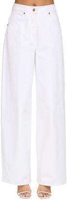 Jacquemus Wide Leg Cotton Denim Jeans