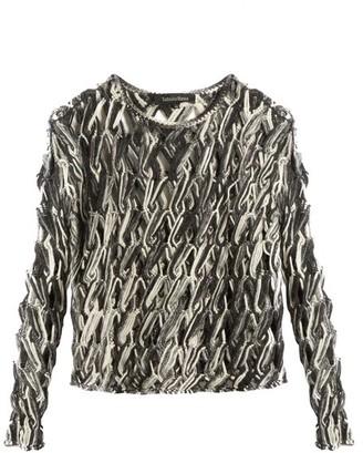 Tabula Rasa - Lela Hand-macrame Knit Top - Grey Multi