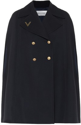 Valentino wool cape