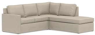 Pottery Barn Cameron Square Arm Slipcovered 3-Piece Bumper Sectional