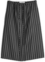 Jil Sander Striped Wool Skirt