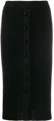 Pinko Stretch Fit Ribbed Pencil Skirt
