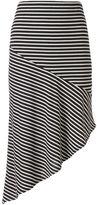 Apt. 9 Women's Striped Asymmetrical Skirt