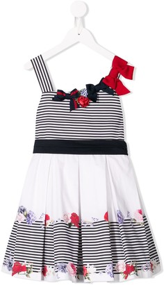 Lapin House Bow Detail Pleated Dress