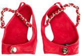 Chanel Fingerless Chain-Embellished Gloves