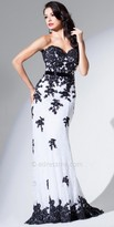 Tony Bowls Le Gala Falling Lace Evening Gown