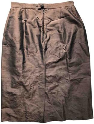 Moschino Cheap & Chic Moschino Cheap And Chic Burgundy Silk Skirt for Women